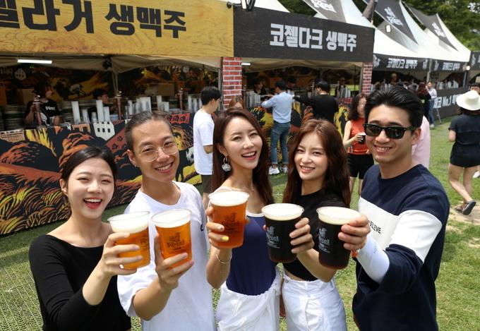 코젤과 필스너 우르켈이'2019 서울 파크 뮤직 페스티벌'을 후원했다. Photo @ 필스너 우르켈